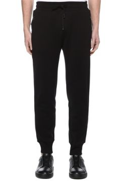 Dolce&Gabbana Erkek Lacivert Beli Kordonlu Jogger Eşofman Altı Siyah 50 IT(109109732)