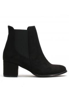 Ayakkabı Modası Siyah Süet Kadın Bot(110929315)