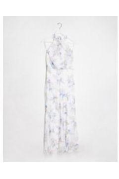 Forever New - Vestito lungo accollato con stampa floreale avorio blu giacinto-Multicolore(120328960)
