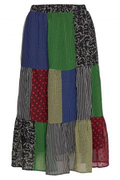 Sierra Skirt Knielanges Kleid Bunt/gemustert RÉSUMÉ(108839210)