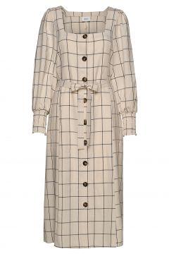 Linoagz Dress Hs20 Kleid Knielang Creme GESTUZ(114165250)