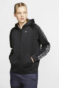 Nike Sportswear Logolu Tam Boy Fermuarlı Kadın Zip Ceket(117653557)