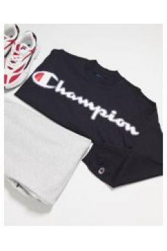 Champion - Felpa nera squadrata corta-Nero(120751418)