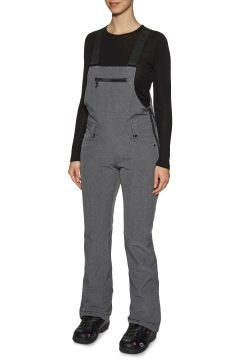 Pantalons pour Snowboard Femme 686 Gossip Softshell Bib - Grey Melange(111320158)