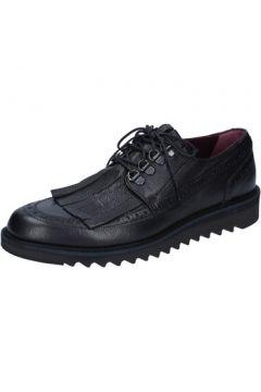 Chaussures Roberto Botticelli élégantes noir cuir BY585(115401362)