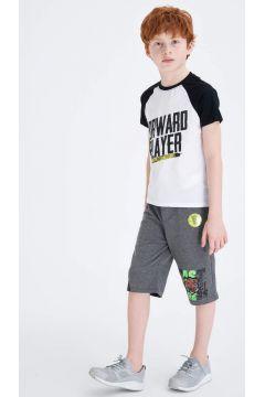 DeFacto Erkek Çocuk Şekil Değiştiren Baskılı Kısa Kollu T-Shirt(119060091)