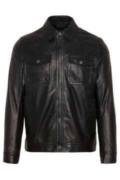 J.LINDEBERG Matt Leather Overshirt Herren Schwarz(108902217)