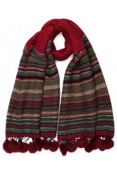 Echarpe Nyls Création Grande echarpe pompon rouge en laine Lyvak(88512556)