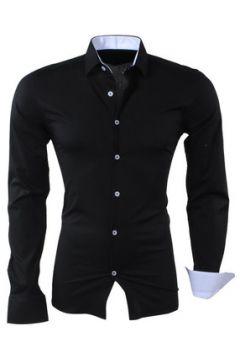 Chemise Kc 1981 Chemise fashion homme Chemise 1122 noir et Blanc(115404223)