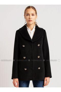 Black - Viscose - Coat - NG Style(110341247)