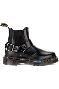 Boots Dr Martens Botte amphibie Wincox en cuir noir avec boucle(101536003)