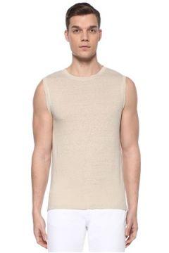 Isabel Marant Erkek Cornell Bej Kolsuz Keten T-shirt M EU(109265326)