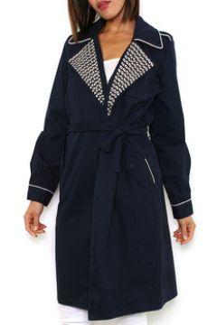 Manteau Cendriyon Manteaux Bleu Vêtements Femme(115425386)