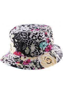 Chapeau Hip Hop Honour Bob NY en tissu fleuri léopard blanc et noir(115396368)