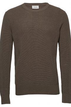 Falcon Sweater Strickpullover Rundhals Grün WOOD WOOD(116997141)