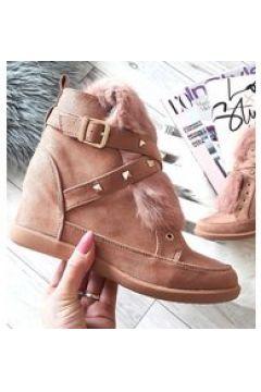 Pantofelek24 Trampki sneakersy z futerkiem Kylie RÓŻOWE(112082174)