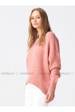 Pink - Crew neck -- Jumper - Dilvin(110327552)