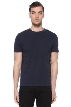 Moncler Erkek Lacivert Şerit Logo Detaylı Basic T-shirt L EU(114438939)