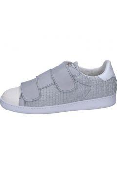 Chaussures Brimarts sneakers gris cuir BT591(115442847)