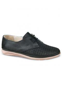 Ceyo Hakiki Deri Siyah Kadın Ayakkabı(105232024)