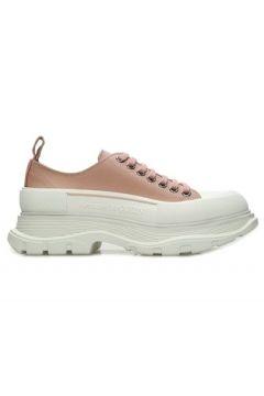 Alexander McQueen Kadın Pembe Beyaz Logolu Kanvas Sneaker 40 EU(108972759)