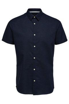 SELECTED Slim Fit Kurzarmhemd Herren Blau(114426912)