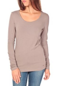 T-shirt Tom Tailor Lara Stretch Longsleeve Taupe(115471836)