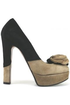 Chaussures escarpins Gianni Marra escarpins noir marron daim AJ300(115399895)