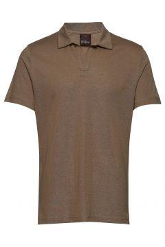 Barrey Poloshirt S/S Polos Short-sleeved Braun OSCAR JACOBSON(111057282)