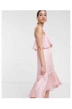 Soaked In Luxury - Stain - Vestito midi con fondo asimmetrico-Rosa(120330447)
