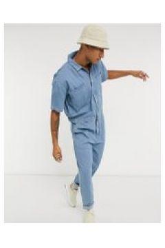 ASOS DESIGN - Tuta jumpsuit blu lavaggio chiaro(120357149)