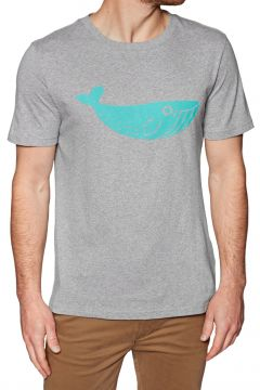 2 Minute Beach Clean Organic Big Whale Logo Kurzarm-T-Shirt - Grey(100266146)