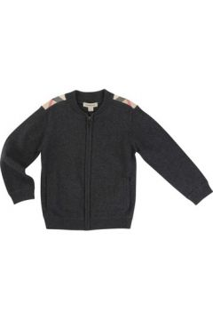 Veste enfant Burberry Cardigan gris anthracite(115465993)