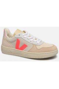 Chaussures Veja Basket V10 Dori Blanc Rose Fluo(115606820)
