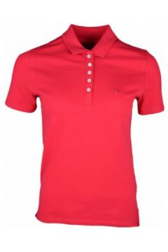 Polo Tommy Jeans Polo 5 boutons rouge pour femme(88517306)