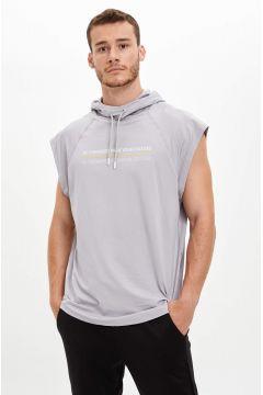 DeFacto Erkek Baskılı Slim Fit Kolsuz Spor Sweatshirt(125928555)