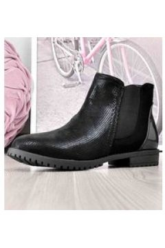 Pantofelek24.pl   Czarne botki damskie z gumami(112083259)
