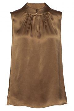 Double Silk - Prosi Top Bluse Ärmellos Braun SAND(117936780)