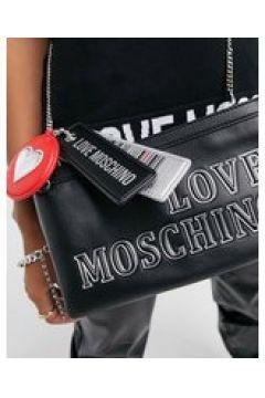 Love Moschino - Borsa a tracolla nera-Nero(122791452)