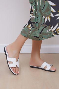 Shoes Time Kadın Beyaz Terlik 20y 816(118648314)