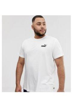 Puma PLUS - Essentials - Weißes T-Shirt mit kleinem Logo - Weiß(94963238)