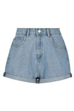 High Waist Denim Mom Shorts(111016586)