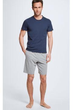 Pyjama - T-Shirt und Shorts, navy/hellgrau(111093478)