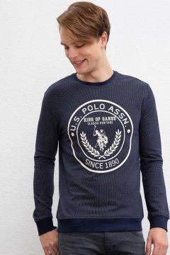 U.S. Polo Assn. Lacivert Baskılı Sweatshirt(123013556)