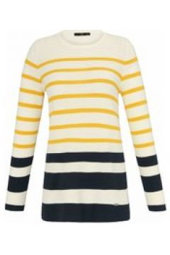 Pullover mit Rundhals-Ausschnitt Emilia Lay ecru/multicolor(115851579)
