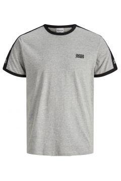 JACK & JONES Kontrastfärgad Piping - T-shirt Man Grå(112240255)