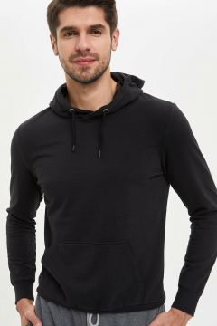 DeFacto Erkek Kapüşonlu Slim Fit Sweatshirt(108642615)