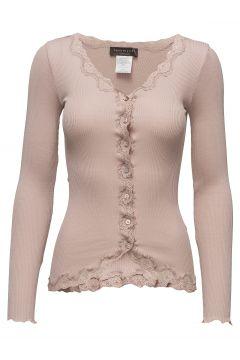 Silk Cardigan Regular Ls W/Rev Vint Cardigan Strickpullover Pink ROSEMUNDE(114468662)