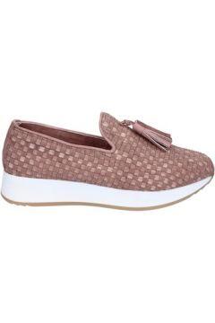 Chaussures Emanuélle Vee slip on mocassins beige foncé cuir textile BS23(115443323)