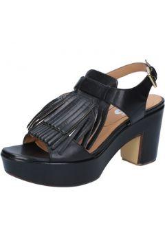Sandales Shocks sandales noir cuir BY400(115401131)